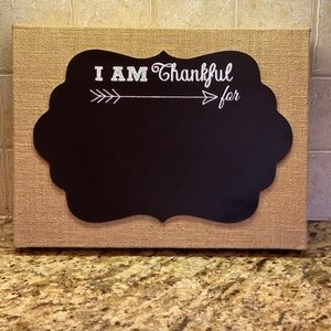 "Hobby Lobby ""I am Thankful For"" Sign - New W/ Tag"